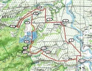 Carte du tracé de la boucle de ravine chaude