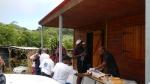 la collation est servie en fin de randonnée de la trace de la madeleine
