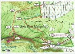 Carte du parcours de la boucle