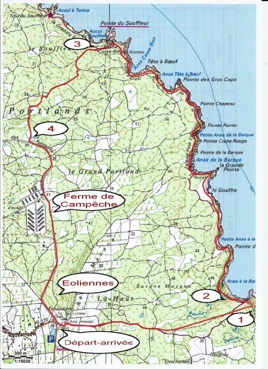 Carte du parcours présentée par Gérard Cosnefroy