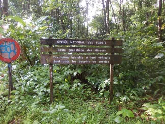 Panneau d'informations de l'office national des forêts