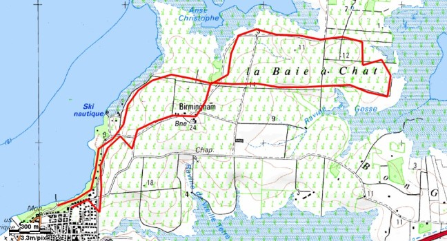 Carte de préparation de la randonnée