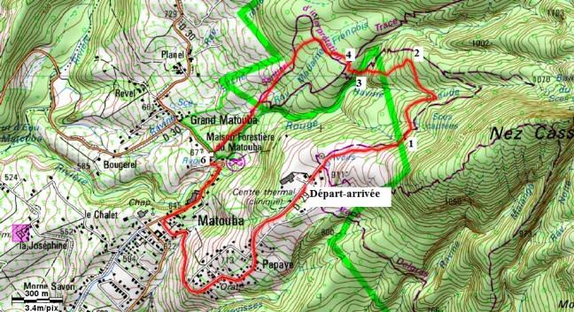 Boucle de Matouba_Carte du parcours