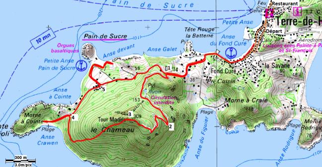 Carte du parcours de la trace des chameaux