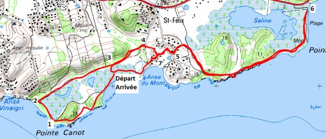 Carte du littoral Saint-Félix_Les salines