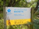 Panneau du site de Machette