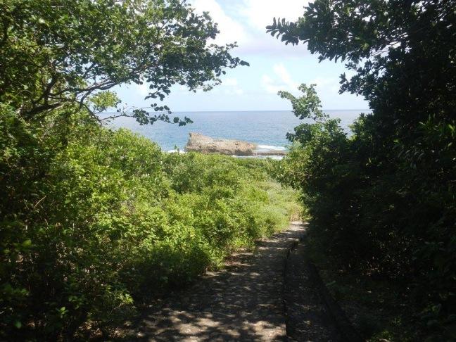 Tracé du parcours du littoral est du Moule
