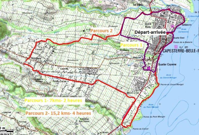 Carte du tracé des parcours