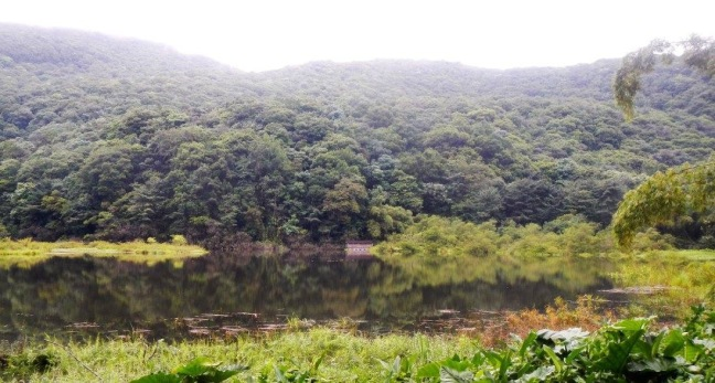 L'un des étangs de la boucle