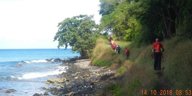 Trace du littoral de Deshaies